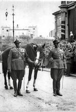 Kasztanka prowadzona w kondukcie pogrzebowym Piłsudskiego