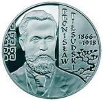 Moneta z podobizną Bronisława Piłsudskiego, wyemitowana w 2008 r. przez NBP