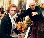 """Jerzy Antczak  na planie filmu """"Chopin. Pragnienie miłości""""  z odtwórcą głównej roli Piotrem Adamczykiem"""