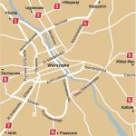 Miejsca, gdzie będą patrole drogówki. Policjanci ustawią się na wylotówkach ze stolicy. Będą na: 1. ul. Pułkowej, 2. ul. Modlińskiej, 3. ul. Płochocińskiej,  4. ul. Radzymińskiej, 5. ul. B. Czecha, 6. ul. Puławskiej,  7. al. Krakowskiej, 8. ul. Połczyńskiej, 9. na drodze nr 17  w kierunku Kołbieli.