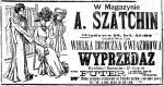 Jeśli ktoś sądzi, że wyprzedaże gwiazdkowe są wymysłem naszych czasów, niech spojrzy  na tę reklamę  z 1909 roku...