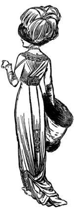 Dama pochodzi ze stylowej reklamy salonu Hersego sprzed 100 lat