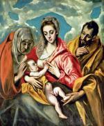 Święta Rodzina ze św. Anną, El Greco, ok. 1590 – 1595, olej na płótnie, Szpital św. Jana Chrzciciela, Toledo
