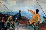 Leif Eriksson odkrywa Amerykę, mal. Christian Krohg