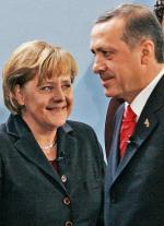 Angela Merkel i Recep Tayyip Erdogan w Berlinie, luty 2008