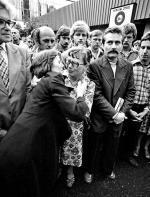 Na mszy św. dla strajkujących w 1980 r., z Lechem Wałęsą