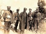 Gen. Franciszek Krajowski, dowódca 18 DP wraz ze swoim sztabem. Czech z pochodzenia, był jednym z najlepszych generałów w wojnie 1920 r.