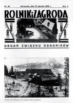 """Strona tytułowa pisma """"Rolnik i Zagroda"""", wydawanego przez Związek Osadników"""