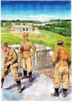 Dogodny do obrony teren Polesia wzmocniono poprzez budowę stałych umocnień
