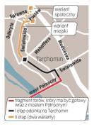 Do 2012 roku ma powstać odcinek na moście Północnym. Protesty mieszkańców dotyczą drugiego etapu odcinka z mostu do Winnicy. ∑