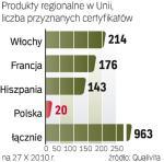 Włosi na czele. Polska zarejestrowała  20 produktów regionalnych.  Daje nam to dziewiąte miejsce  w Europie.
