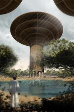 Wieże wodne w Sudanie. Ten projekt zakładał stworzenie wież, w których miały się znaleźć: szkoła, szpital i magazyny z żywnością.