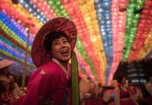 Koreańskie lampiony na cześć Buddy