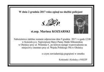 Ostatnie pożegnanie zabitego policjanta
