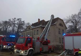 Pożar pałacu w Wojnowicach