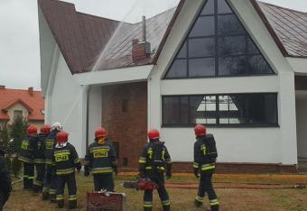 Pożar kościoła w Łodzi