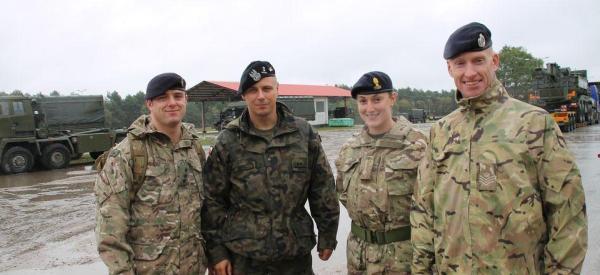 Brytyjscy czołgiści już w Polsce
