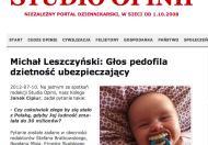 """Michał Leszczyński i jego """"pedofilski głos"""" na portalu Stefana Bratkowskiego"""