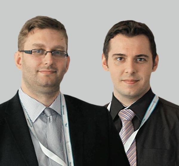 Innowatorzy Grzegorz Siehień  i Szymon Piekarz