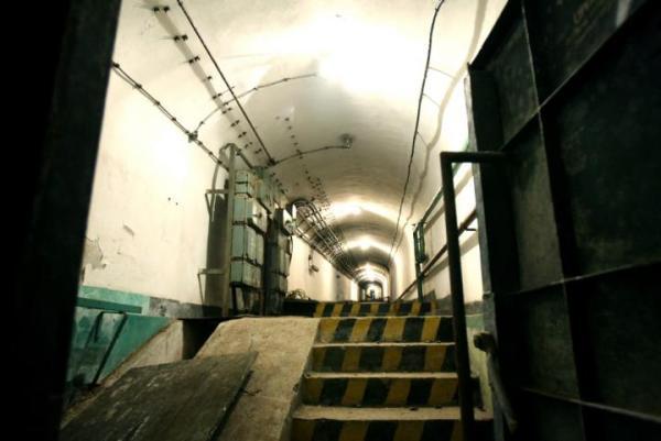 Fort Beniaminów - część bunkru nr 4 przeznaczona do renowacji,