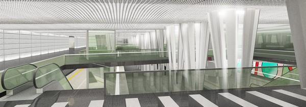 Wnętrze każdej z siedmiu pierwszych stacji II linii metra nie będą miały