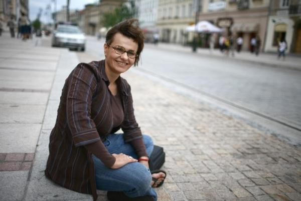 Agnieszka Kręglicka na Krakowskim Przedmieściu