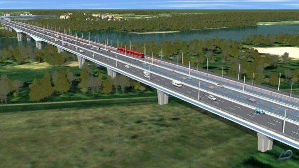 Wizualizacje Mostu Północnego