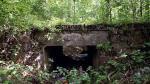 Kolej młocińska. Ten wiadukt wybudowano nad parowem znajdującym się w rejonie Dąbrowy Leśnej.