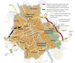 Oto proponowany pierścień dróg ekspresowych, który ma rozprowadzić ruch np. z auto- strady A2 i zapobiec jego wprowadzeniu do centrum. Dzisiaj trwa budowa jedynie pierwszego odcinka: z Konotopy do Trasy AK. Bez kolejnych dróg – w tym przez Wesołą – obwodnica nie będzie miała sensu. GDDKiA obiecywała, że cały pierścień będzie gotowy w... 2007 roku.