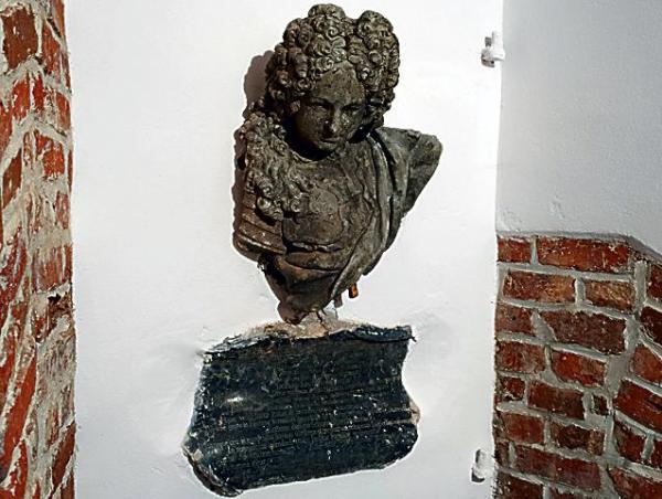 Fragment popiersia marszałka wielkiego koronnego Franciszka Bilińskiego. Tylko to ocalało z wystawnej kompozycji nagrobnej