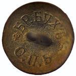 *Powiew przeszłości - wnętrze  mosiężnego carskiego guzika wojskowego z napisem cyrylicą – br. Buch.