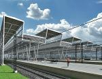 Fantazyjne zadaszenie peronów będzie wizytówką stacji