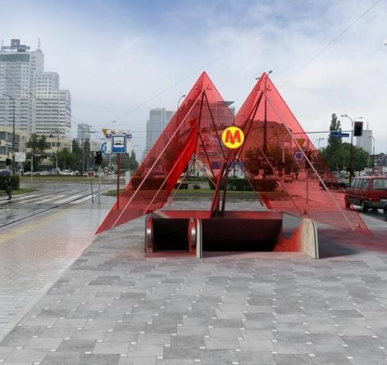 Projekt stacji Rondo Daszyńskiego