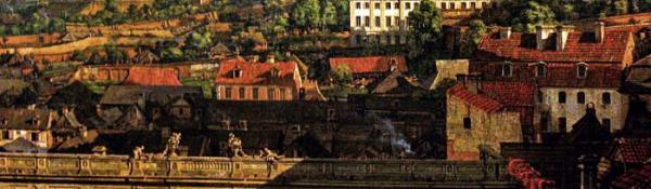 *Panorama  jurydyki Mariensztadt (wedle starej  pisowni) utrwalona na płótnie przez Canaletta