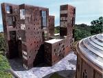 Inwestor forsuje prostokątny budynek