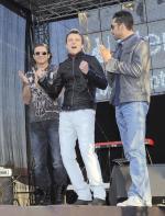 Radosław Majdan, Piotr Kupicha, Rafał Maserak (od lewej)