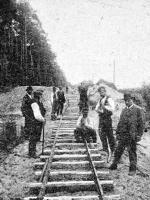 *Rok 1907. Układanie toru w kierunku Kaczego Dołu