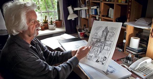 """*Papcio Chmiel za tydzień, 13 sierpnia, w Galerii N+U  przy ul. Francuskiej 11 otworzy wystawę swoich rysunków, które złożyły się na album """"Tytus,  Romek i A'Tomek w Bitwie Warszawskiej 1920 r."""""""