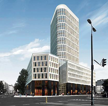 Kompleks budynków przy pl. Unii Lubelskiej zaprojektował Stefan Kuryłowicz. Jego nazwa to Plac Unii