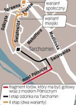 Do 2012 roku ma powstać odcinek na moście Północnym. Protesty mieszkańców dotyczą drugiego etapu odcinka z mostu do Winnicy.