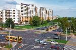*Plany tramwajarzy na 2012 r. Nowy tramwaj Swing obok kotrowersyjnego bloku giganta przy ratuszu Bemowo