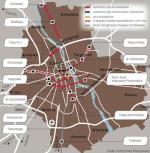 """A jak to robią w innych krajach? W ciągu najbliższych tygodni na 25-kilometrowej trasie między Cambridge a Huntingdon ruszą sterowane autobusy (w tzw. systemie krawężnikowym). Holenderski wykonawca zbudował tam wydzieloną trasę z 5 730 betonowych, 15-tonowych belek. Trasa jest oddzielona 18-centymetrowymi krawężnikami, między którymi autobusy będą prowadzone – jak w rynnach – przy pomocy dwóch dodatkowych kółek z boku pojazdu. Koszt trasy z taborem to 116 mln funtów. ∑ W holenderskim Eindhoven jeżdżą autobusy Phileas o długości do 26 metrów. Dla porównania: tramwaj Swing ma 30 metrów długości. Pojazdy Phileas są sterowane przy pomocy zatopionych w wydzielonych jezdniach czujników magnetycznych, dzięki czemu prowadzący może nie dotykać kierownicy. Koszt to 115 mln euro, z czego większość pochłonęła 14,5 km trasy. Phileas """"włącza"""" sobie zielone światło na każdym skrzyżowaniu."""