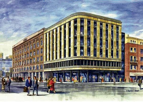 Wizualizacja nowego budynku Braci Jabłkowskich; niebawem oddany zostanie on do użytku