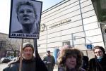 Protest lokatorów z portretem Jolanty Brzeskiej