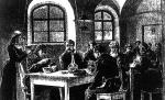 *Śniadanie sześciogroszowe w Warszawie wydawane przez Towarzystwo Dobroczynności. Za niewielkie pieniądze biedni ludzie najadali się na pół dnia