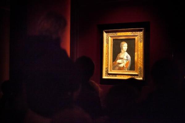 Dama z Gronostajem - wystawa na Zamku Królewskim