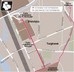 Linia na ul. św. Wincentego i Głębockiej umożliwiłaby dojazd z Białołęki do ronda Żaba, a stąd mostem Gdańskim do metra. Trasę Toruńską tramwaj pokonałby wiaduktem. GDDKiA nie zbudowała tego obiektu w ramach trwającej przebudowy trasy.