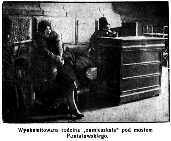 """Rok 1928. Fotka z """"Głosu Polski"""", wychodzącego wówczas w Łodzi. Taka scena w innych miastach była codziennością. Ale żeby w stolicy?"""