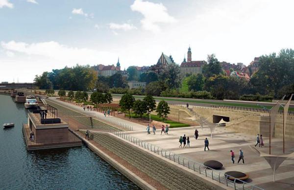 W 2013 r. mamy już spacerować nowymi bulwarami od mostu Świętokrzys-kiego do ul. Boleść