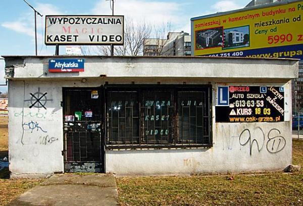 Wypożyczalnia kaset wideo przy ul. Afrykańskiej